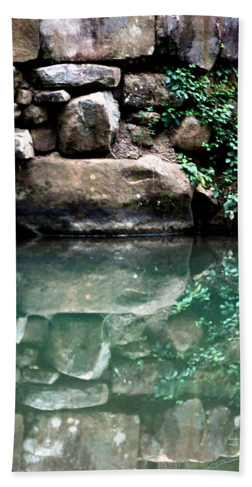 Stone Bath Sheet featuring the photograph Mirrored by Maria Urso