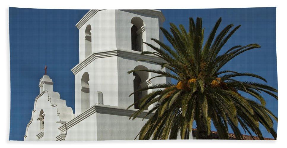 Mission San Luis Rey California Bath Sheet featuring the photograph Mission San Luis Rey Iv by Jon Berghoff