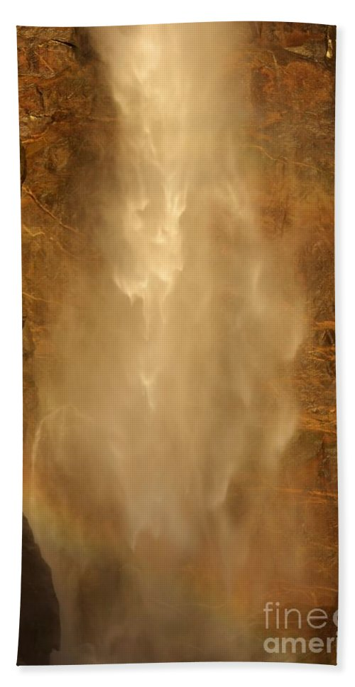Yosemite National Park Hand Towel featuring the photograph Mist Over The Rocks by Adam Jewell