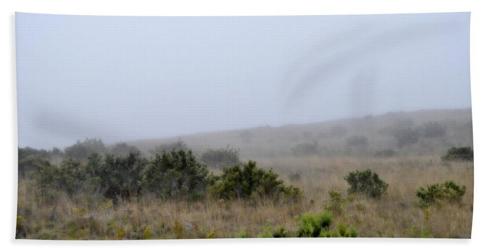 Interior Design Hand Towel featuring the photograph Mists Between The Hills by Paulette B Wright