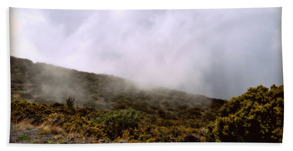 Nature Hand Towel featuring the photograph Misty Hills by Paulette B Wright