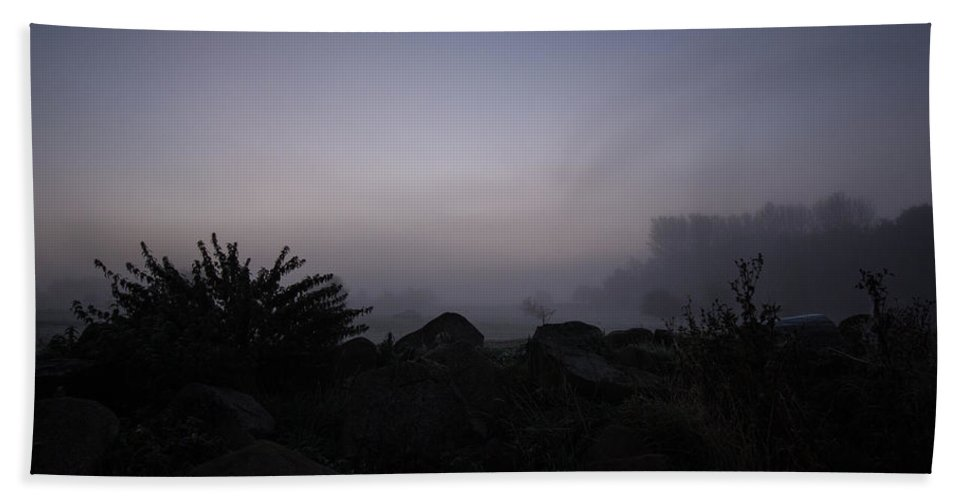 Mist Hand Towel featuring the photograph Misty Morning by Dawn OConnor