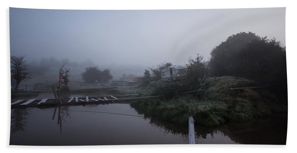 Mist Hand Towel featuring the photograph Misty Reflections by Dawn OConnor