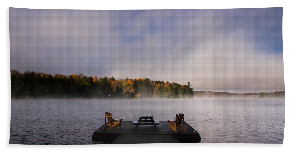 Sunrise Hand Towel featuring the photograph Misty Sunrise by Cale Best