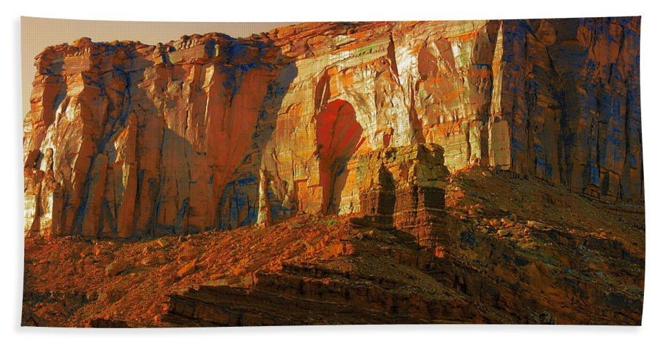 Moab Hand Towel featuring the photograph Moab Ut by Adam Vance