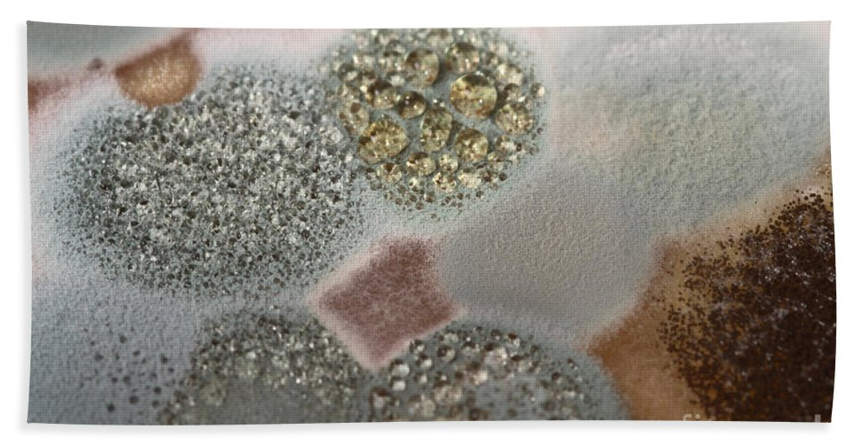 Mold Hand Towel featuring the photograph Mold On Agar by Ted Kinsman