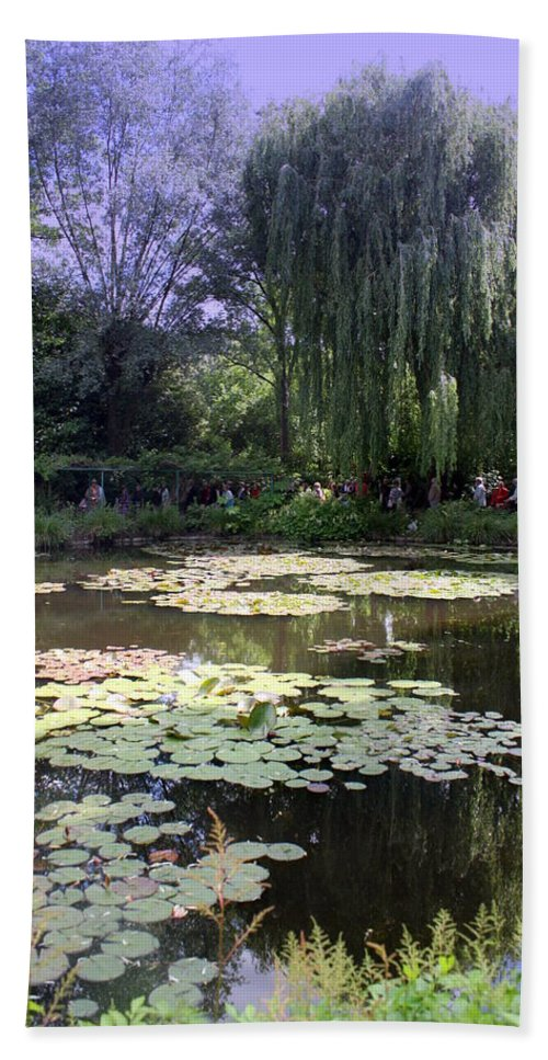 Monet Hand Towel featuring the photograph Monet's Water Garden by Donna Walsh