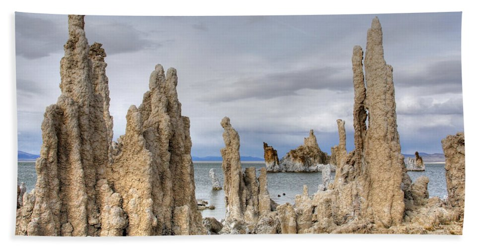 Mono Lake Bath Sheet featuring the photograph Mono Lake by Wes and Dotty Weber
