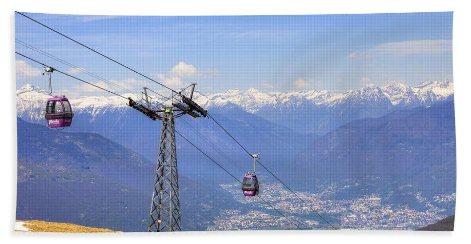 Monte Tamaro Hand Towel featuring the photograph Monte Tamaro - Switzerland by Joana Kruse