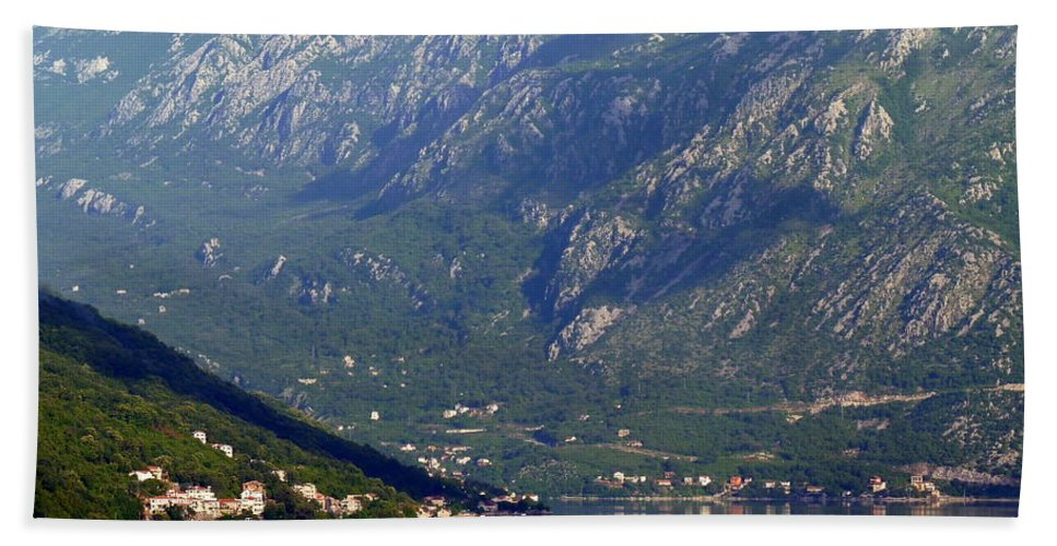 Montenegro Hand Towel featuring the photograph Montenegro's Black Mountains by Carla Parris