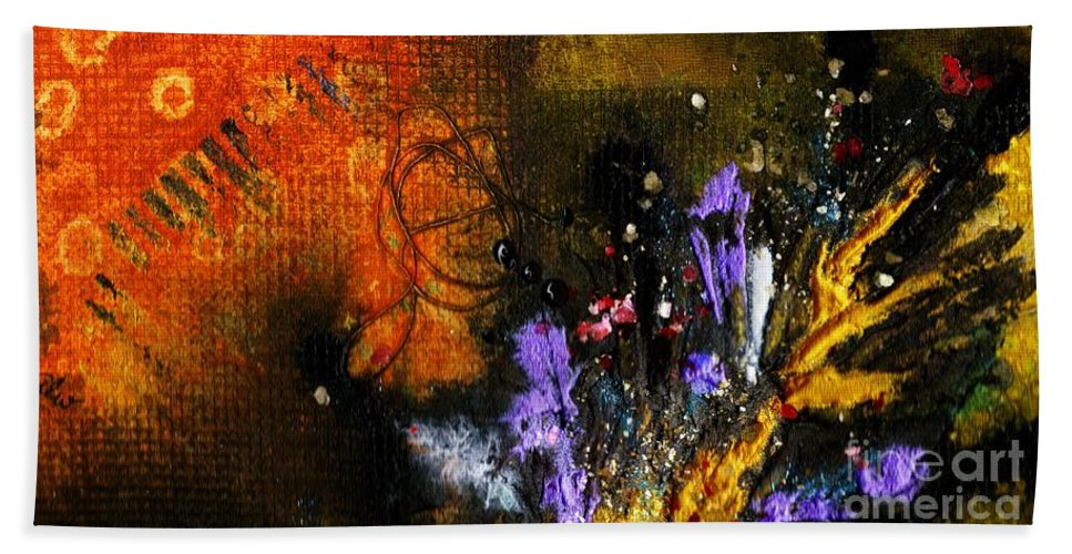 Spiritual Bath Sheet featuring the painting Mood Altering Experiences I by Angela L Walker