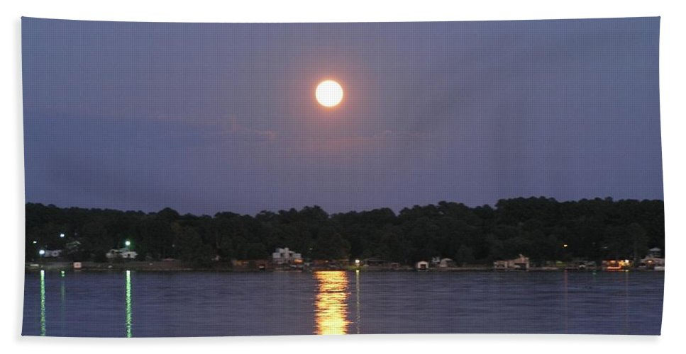 Moon Bath Sheet featuring the photograph Moon Rising by Michael MacGregor