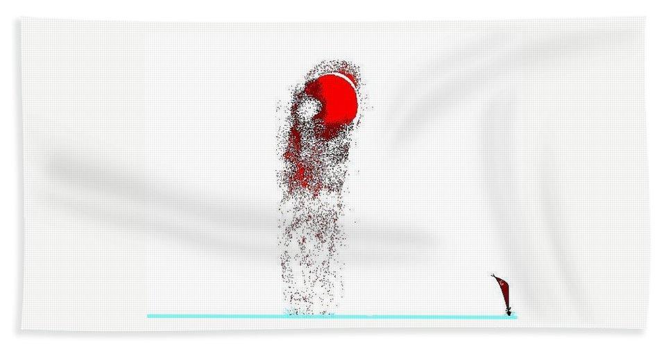 Redmoon Sailboat Bath Sheet featuring the digital art Moonclipse34 by Enriquemontana Garcia