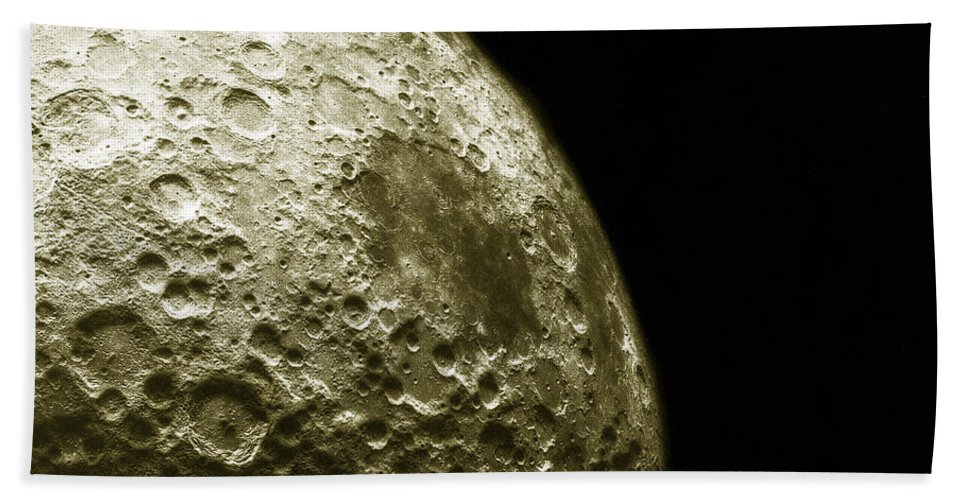 Enhanced Hand Towel featuring the photograph Moons Southern Hemisphere by Science Source