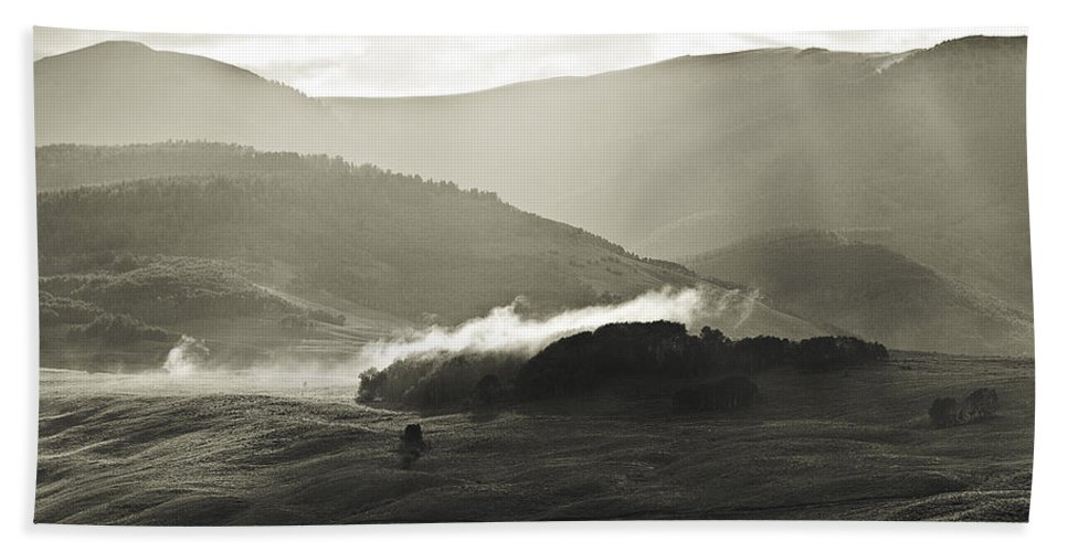 Colorado Bath Sheet featuring the photograph Morning Mist Crested Butte Colorado by Beth Riser