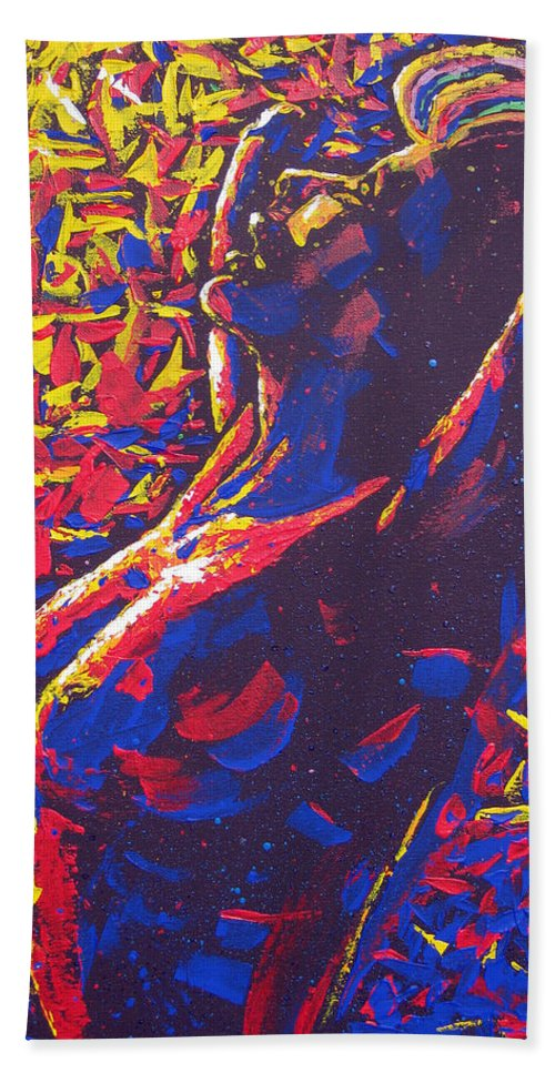 Acrylics Hand Towel featuring the painting Morning Raise by Mayhem Mediums