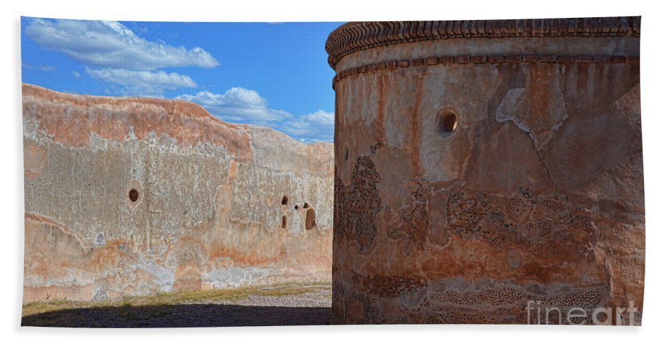 Fine Art Bath Sheet featuring the photograph Mortuary Chapel by Donna Greene