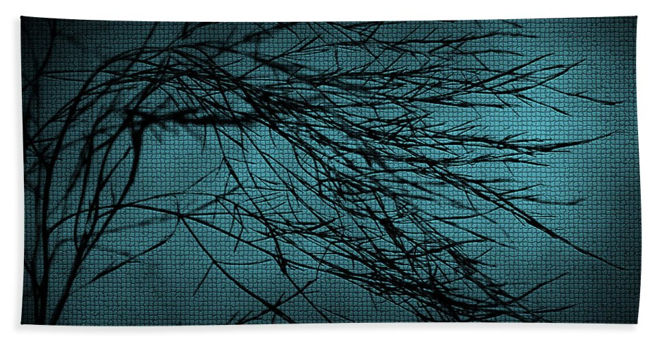 Abstract Hand Towel featuring the digital art Mosaic Branch by Svetlana Sewell
