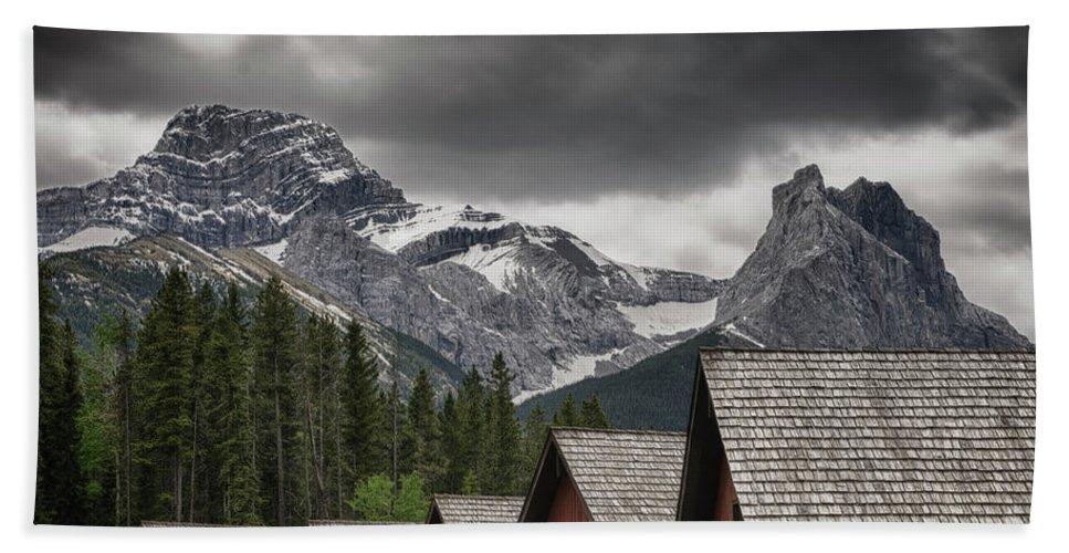 Alberta Bath Sheet featuring the photograph Mount Lougheed by Roderick Bley
