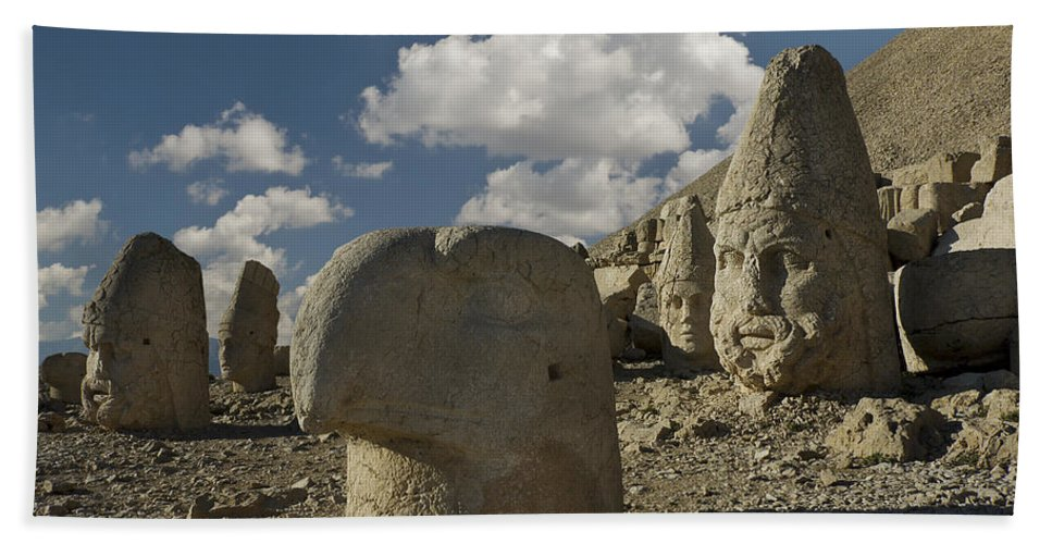 Mount Nemrut Bath Sheet featuring the photograph Mount Nemrut by Ayhan Altun