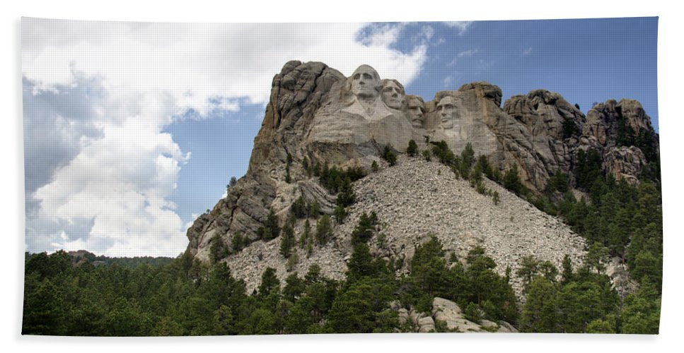 Mount Rushmore National Monument Hand Towel featuring the photograph Mount Rushmore National Monument -3 by Paul Cannon