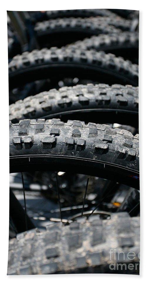 Tire Bath Sheet featuring the photograph Mountain Bike Tires by Gaspar Avila