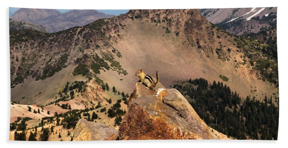 Lassen Volcanic National Park Bath Sheet featuring the photograph Mountain Climber by Adam Jewell