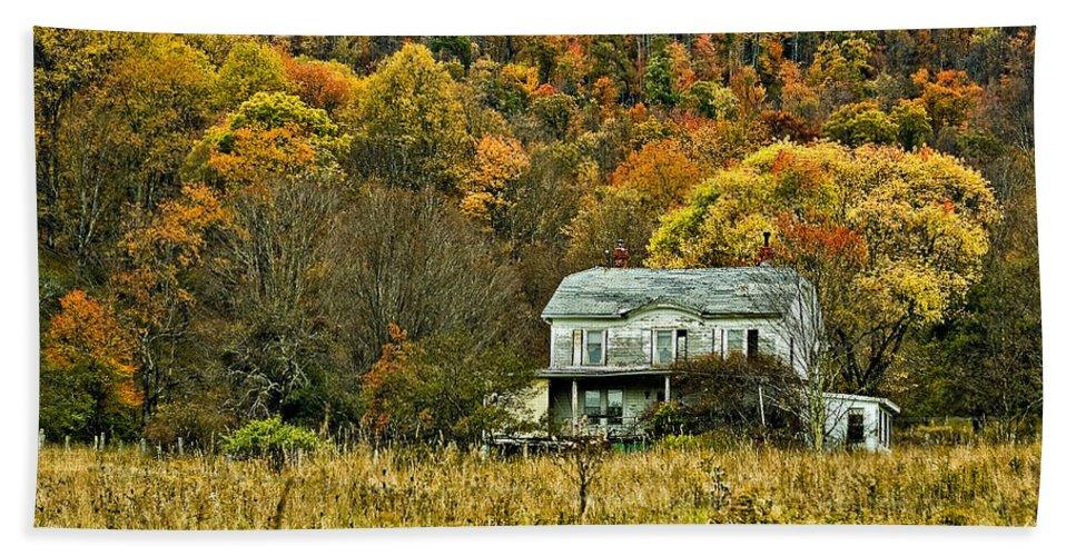 West Virginia Bath Sheet featuring the photograph Mountain Home by Steve Harrington