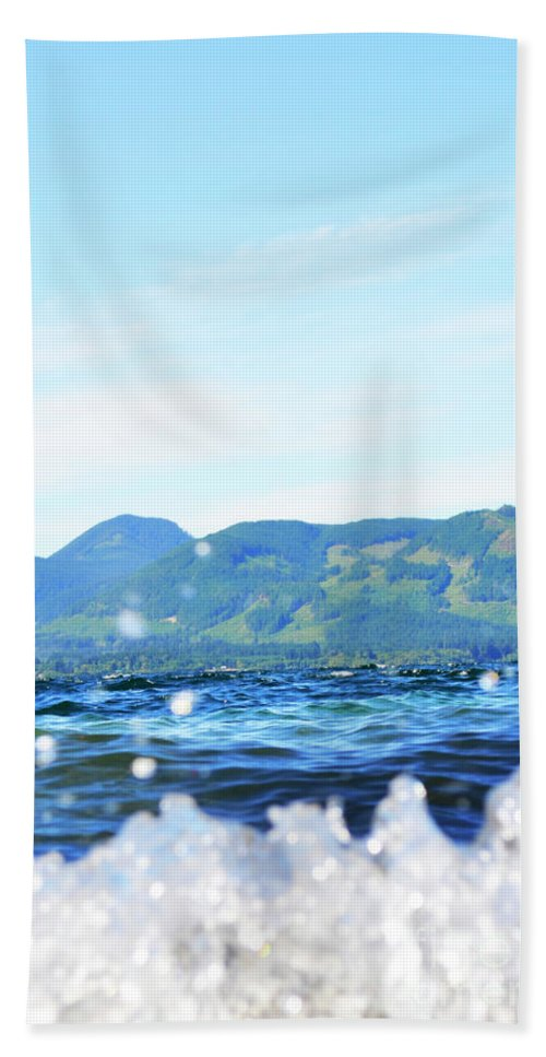 Ocean Hand Towel featuring the photograph Mountain Waves by Traci Cottingham