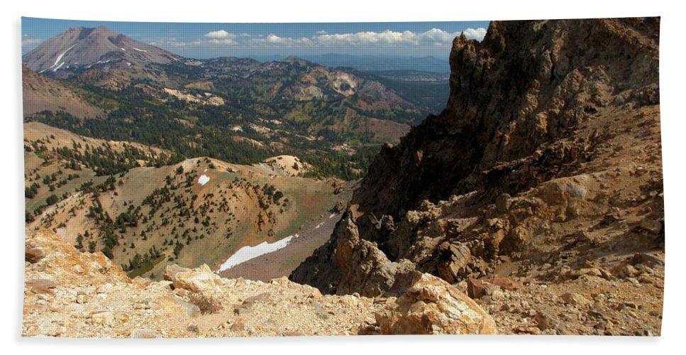Lassen Volcanic National Park Bath Sheet featuring the photograph Mountains At Lassen by Adam Jewell