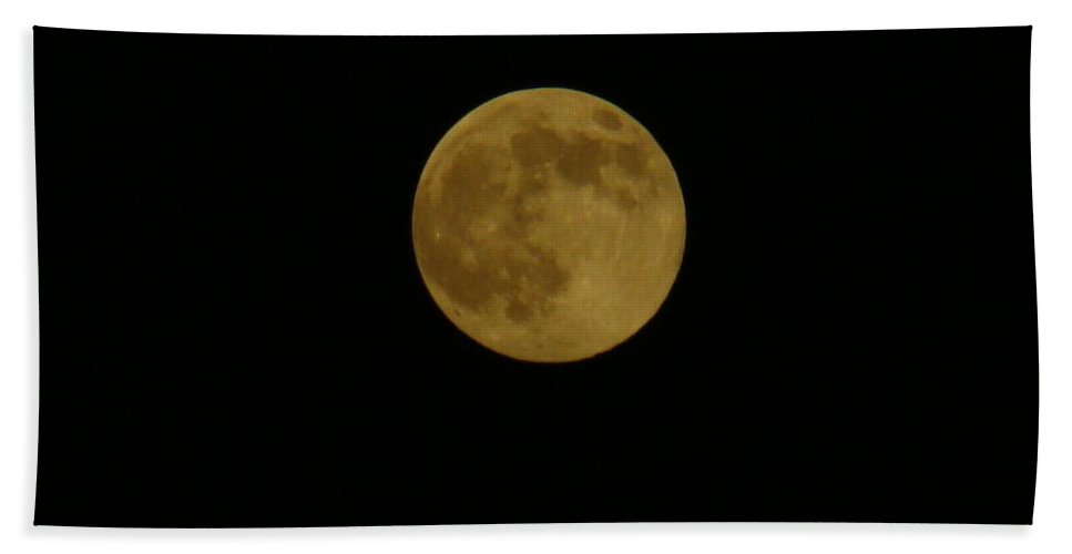 Moon Bath Sheet featuring the photograph Mr. Moon by Michael MacGregor
