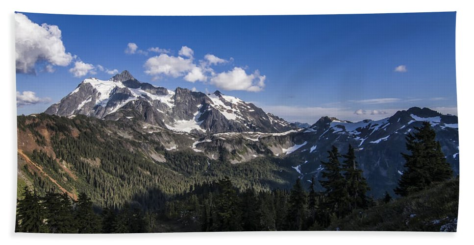 Cascades Hand Towel featuring the photograph Mt Shuksan by Albert Seger