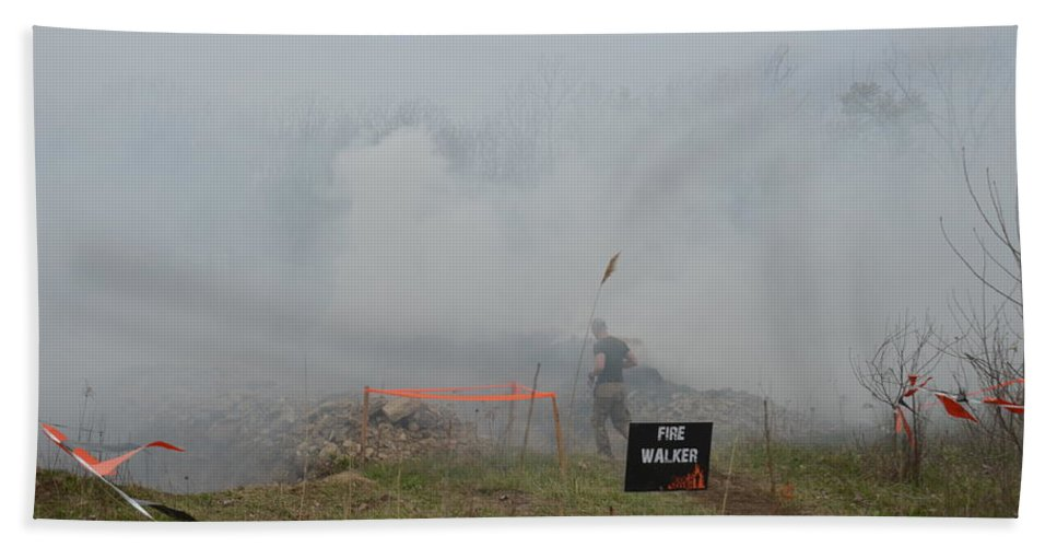 Tough Hand Towel featuring the photograph Mudder Smoke by Randy J Heath