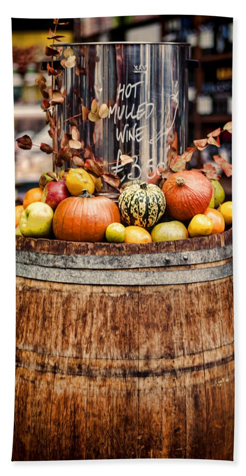 Mulled Wine Hand Towel featuring the photograph Mulled Wine by Heather Applegate