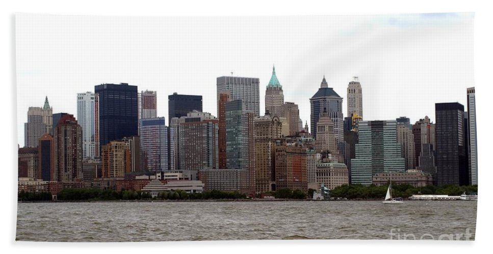 Multiple Buildings Bath Sheet featuring the photograph Multi Color Nyc Buildings by Living Color Photography Lorraine Lynch