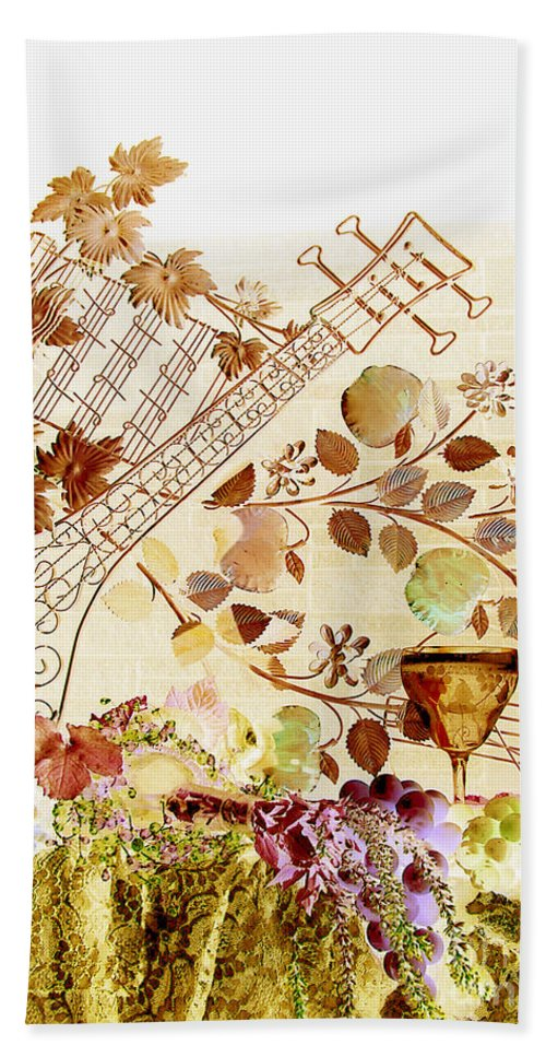 Music Bath Sheet featuring the photograph Music With Wine 2 by Anthony Wilkening
