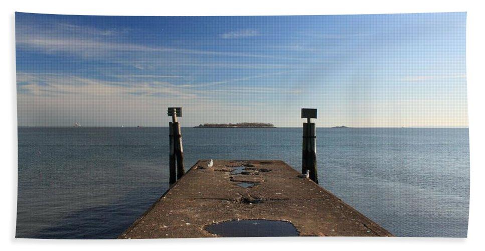 Island Bath Sheet featuring the photograph Mysterious Island by Robert McCulloch