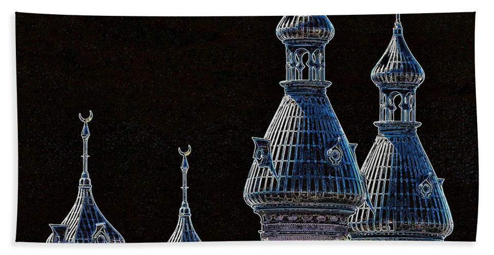 Tampa Bath Sheet featuring the photograph Mysterious Minarets by Carol Groenen