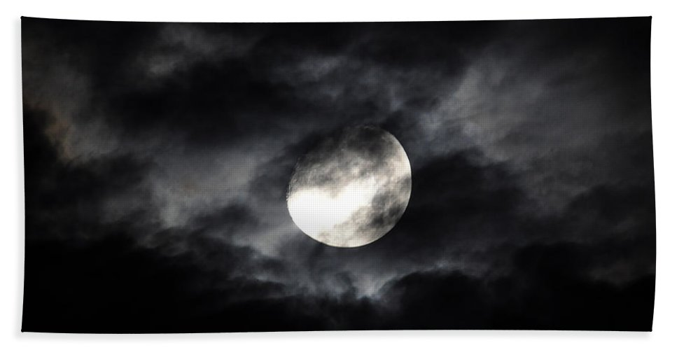 Moon Bath Sheet featuring the photograph Mystic Moon by Al Powell Photography USA