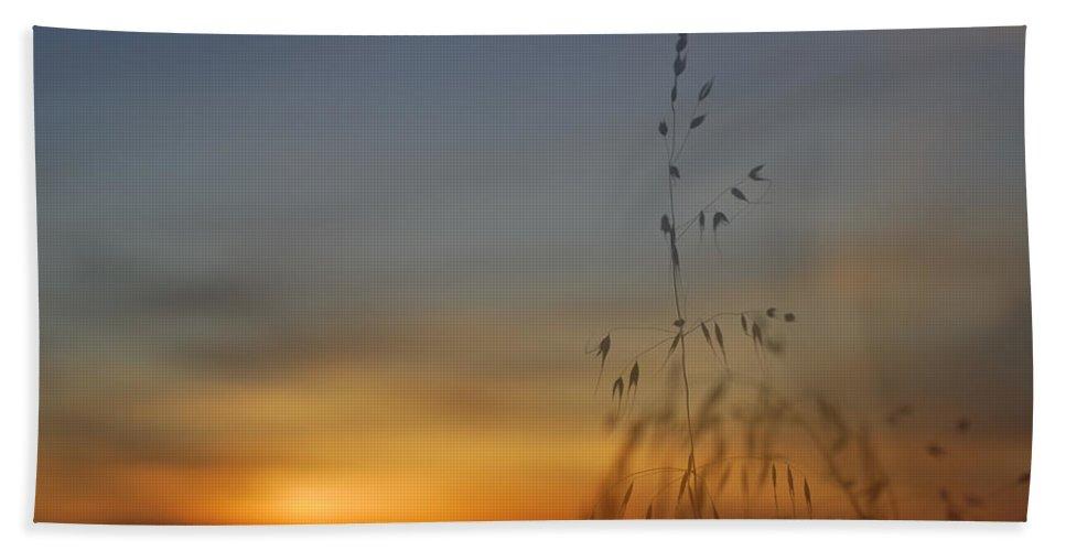 Landscape Bath Sheet featuring the photograph Mystical Calm Sunset by Guido Montanes Castillo