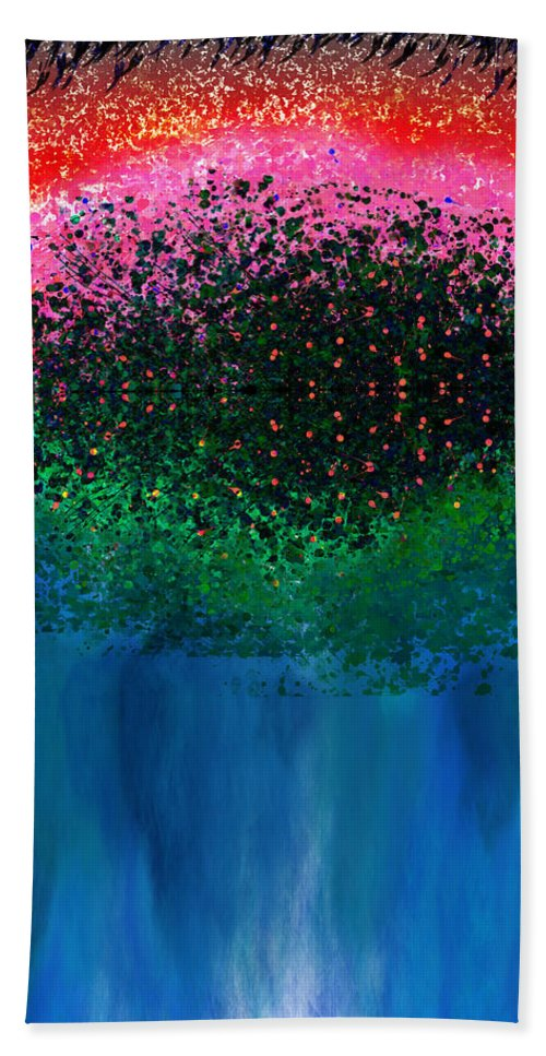 Mystical Bath Sheet featuring the painting Mystical Island by Christopher Gaston