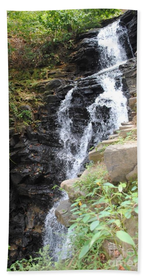 Waterfall Hand Towel featuring the photograph Nature Falls by Jost Houk