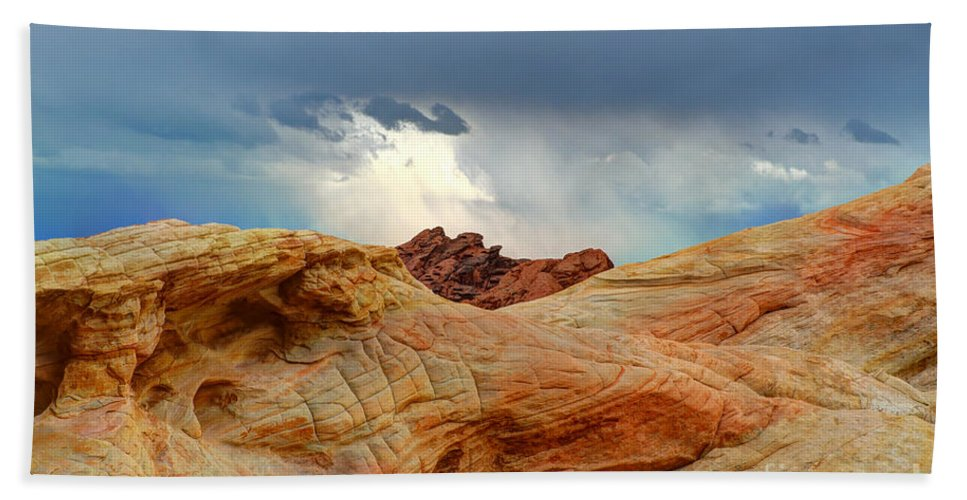 Valley Of Fire Bath Sheet featuring the photograph Natures Wonders by Vivian Christopher