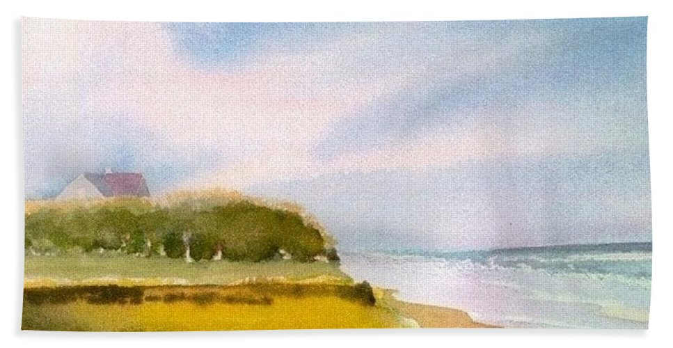 Nauset Beach Hand Towel featuring the painting Nauset Beach Afternoon by Joseph Gallant