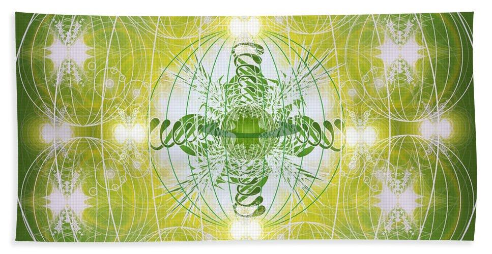 Astronomy Bath Sheet featuring the digital art Nebula 2 by George Pasini