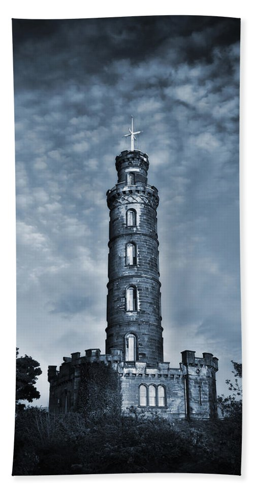 Architecture Hand Towel featuring the photograph Nelson Monument by Svetlana Sewell