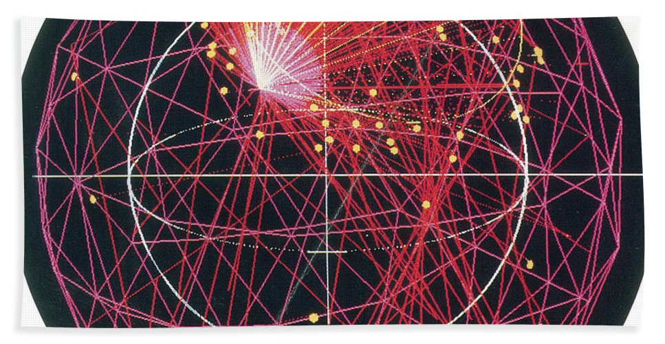 Science Hand Towel featuring the photograph Neutrino Tracks by Science Source