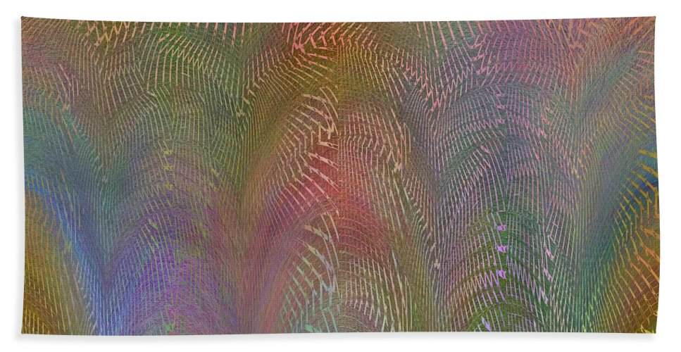Abstract Bath Sheet featuring the digital art Never Believe Its Not So by Tim Allen