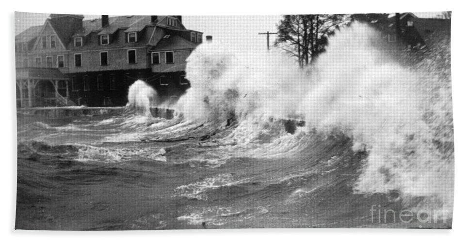 Science Hand Towel featuring the photograph New England Hurricane, 1938 by Science Source