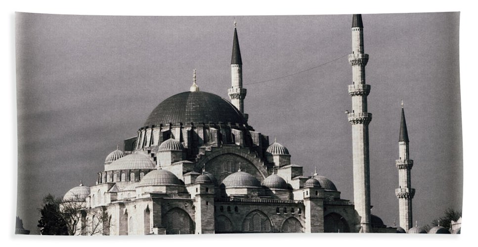 Buildings Bath Sheet featuring the photograph New Mosque by Joan Carroll